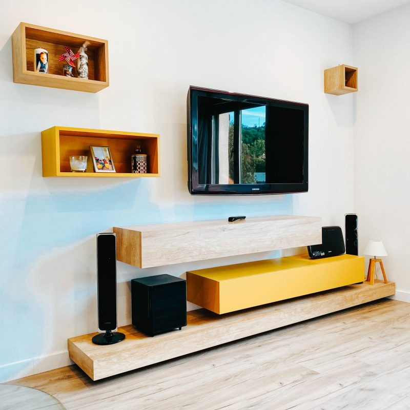 meuble tv en bois sur mesure
